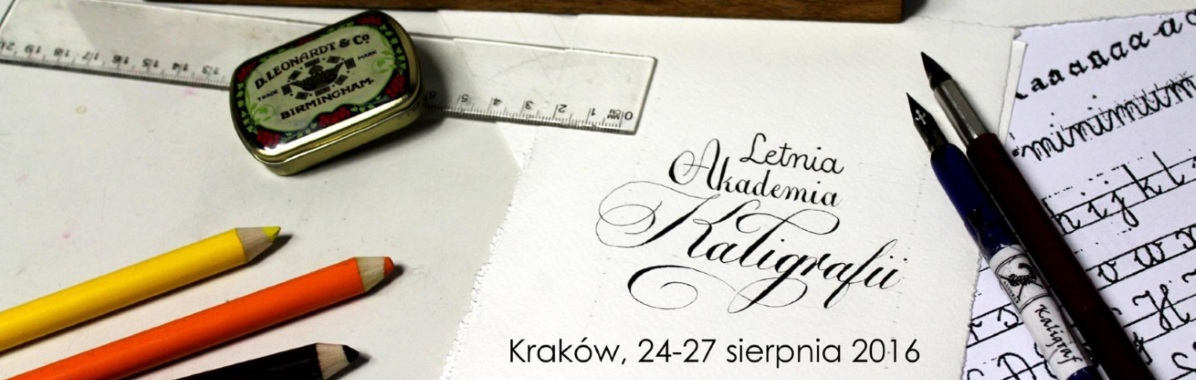 Letnia Akademia Kaligrafii, Kraków 2016
